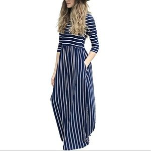 Dresses & Skirts - Striped Maxi Dress With Pockets